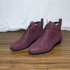 Comfortview Burgundy Peta Ankle Boots 15228